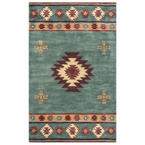 blue grey area rug rizzy home southwest blue grey 8 ft x 10 ft area rug