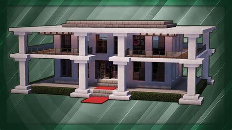 minecraft   build  modern mansion tutorial  youtube