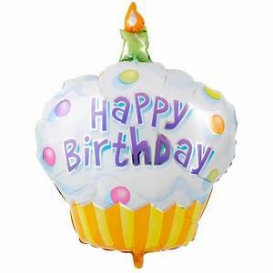 Happy Birthday Cupcake foil balloon China foil balloons