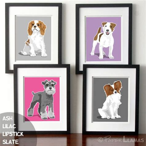 puppy dog nursery art baby girl nursery wall art