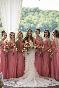 summer wedding coral bridesmaids dresses david39s bridal With summer wedding bridesmaid dresses
