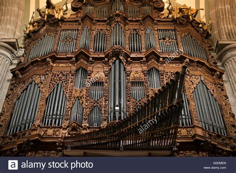Mexico City Mexico One Of The Two Pipe Organs In The