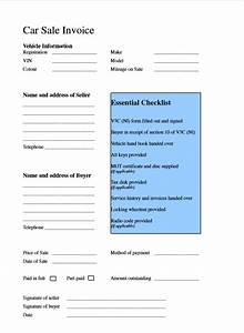 car sale invoice template word excel pdf excel tmp With sales invoice template pdf