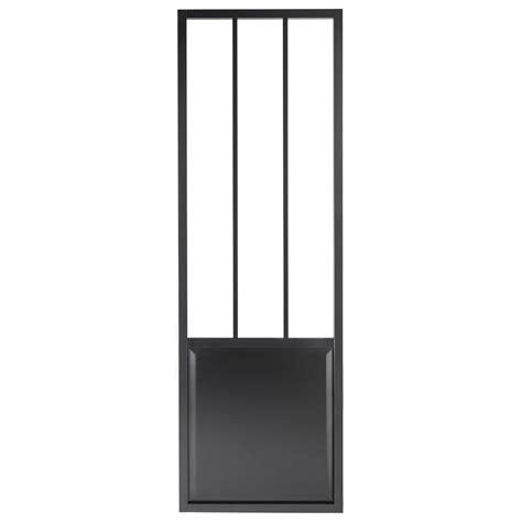 porte coulissante en verre pour cuisine porte coulissante aluminium noir atelier verre clair
