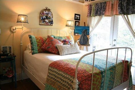 bohemian bedroom theme reflects  eccentric mix
