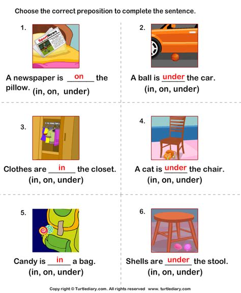 all worksheets 187 preposition in on worksheets