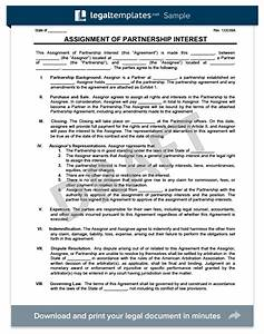 assignment of partnership interest legal templates With assignment of benefits form template
