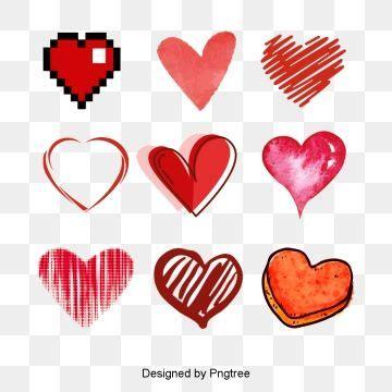 vector hand drawn heart heart clipart vector hand