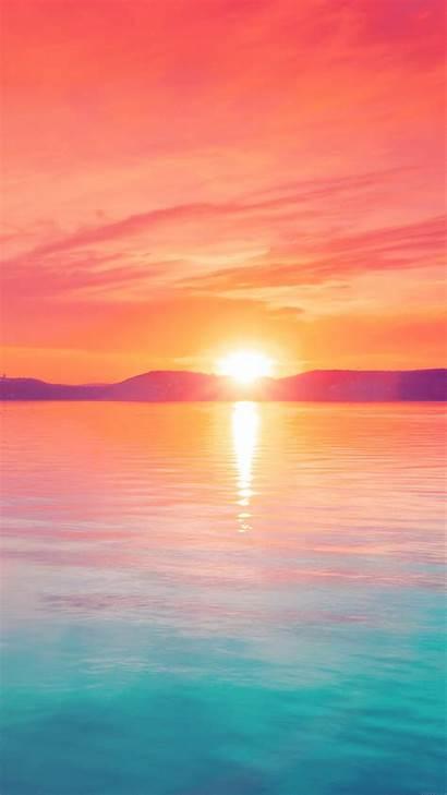 Sunset Sky Water Iphone Night Lake Wallpapers