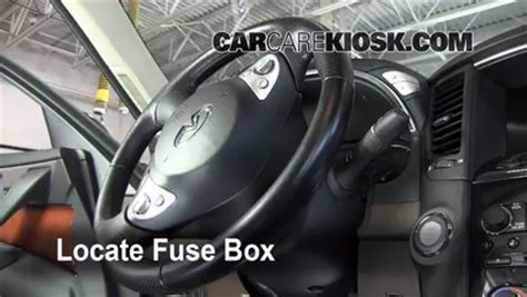 interior fuse box location   infiniti fx