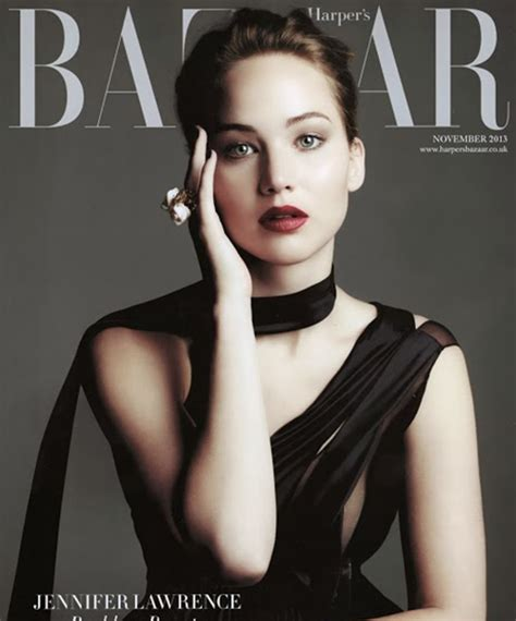 Jennifer Lawrence's Reckless Beauty On Bazaar's Cover