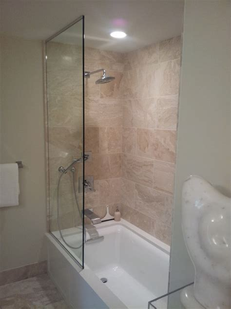 Frameless Sliding Splash Guards   Bathroom   Minneapolis