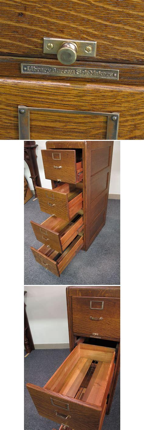 library bureau library bureau sole makers quartersawn oak file cabinet
