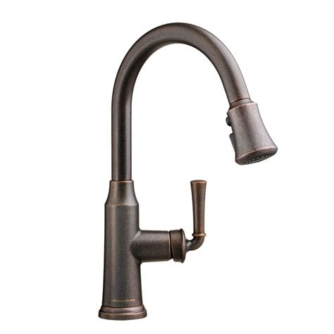 rubbed bronze pull kitchen faucet kingston brass single handle pull sprayer