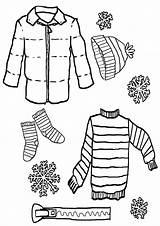Coloring Clothes Winter Socks Template Templates Stuff sketch template