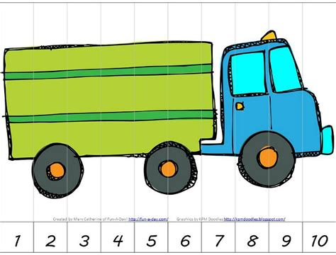 preschool transportation theme math activities 469 | Preschool transportation theme math activities with free printables heres a fun number puzzle