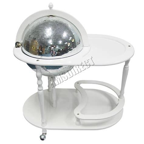 foxhunter globe mini bar trolley  table drinks cabinet