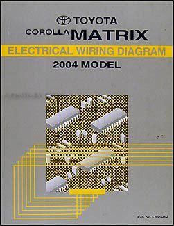 Toyota Corolla Matrix Wiring Diagram Manual Original