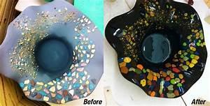 c paint chip vase ceramica studio