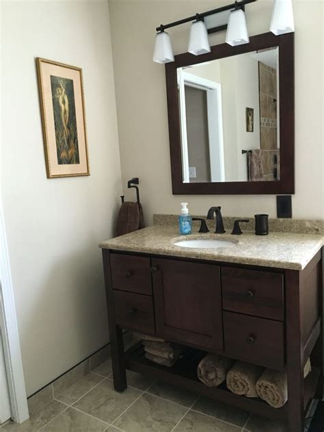 bertch vanity  brindle bertch mirror cambria quartz