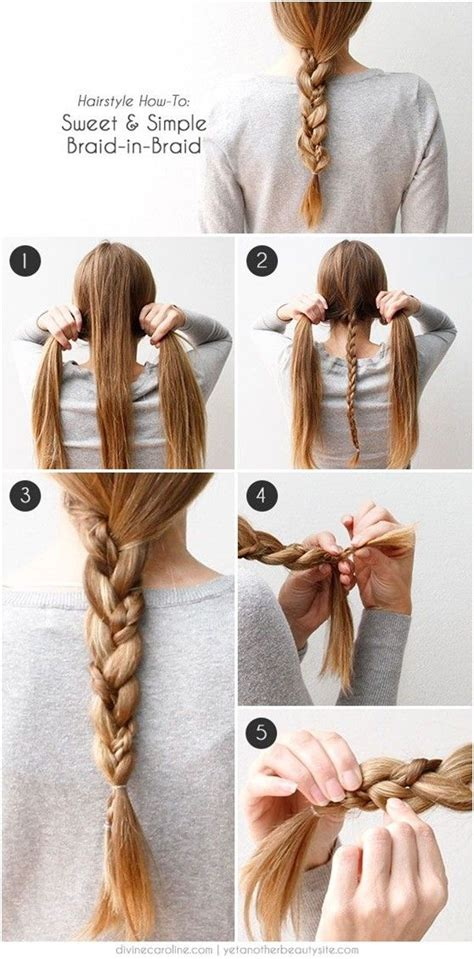 cute  easy braided hairstyle tutorials