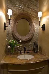 Cream wall paint of bathroom idea feat mosaic tiles