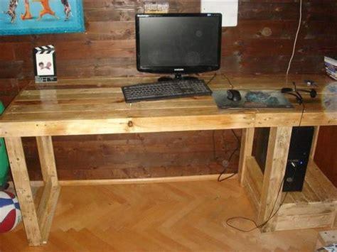 wood pallet desk pallet computer desks pallet wood projects