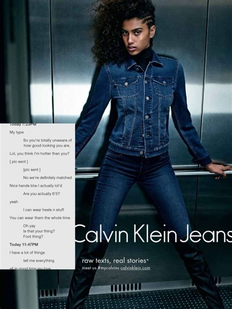 calvin klein jeans ad campaign inspired  sexting