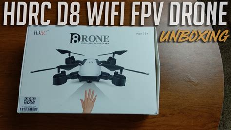hdrc  long flying wifi fpv foldable drone unboxing