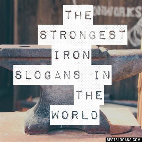 slogans iron catchy taglines business mottos names