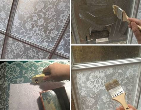 creative ideas diy lace window treatment  cornflour