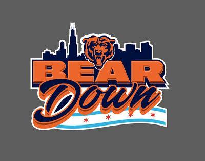 Chicago Bears Bear Down Football Vinyl Decal | eBay