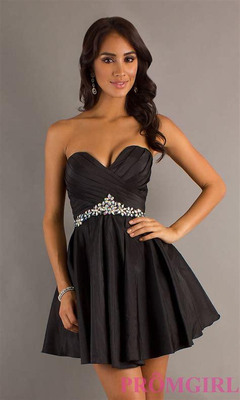 Short Strapless Black Dresses Short Black Formal Dress ...