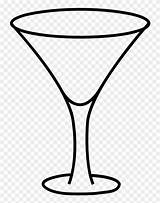 Glass Coloring Cocktail Clipart Clip Template Martini sketch template