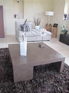 Table En Béton Ciré : table basse de salon en beton cire photo de beton cire ~ Premium-room.com Idées de Décoration