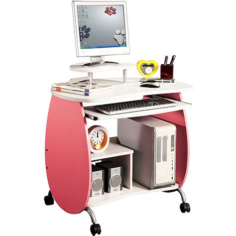 Techni Mobili Contempo Desk White by Furniture Gt Office Furniture Gt Computer Desk Gt Pink