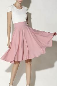 Womenu0026#39;s Fashion High Rise Solid Color Midi A-Line Pleated Skirt - Beautifulhalo.com