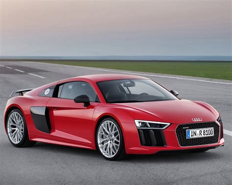 2015 Audi R8 Red Car Wallpaper