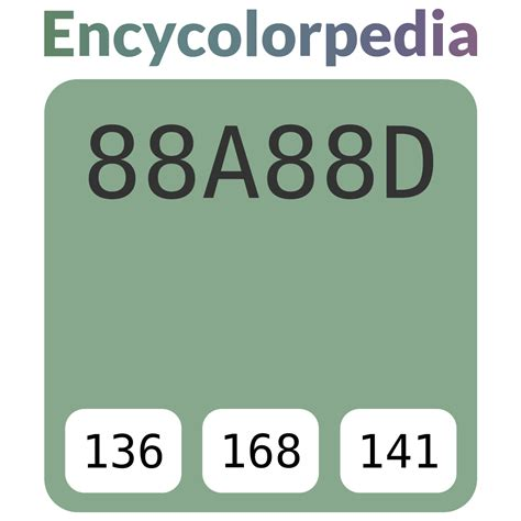 The white, red and green are meant to represent the colors of the italian flag. #88a88d Hex Color Code, RGB and Paints