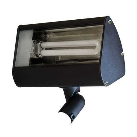 filament design adrien 1 light black outdoor flood light