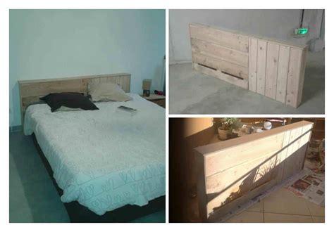tete de lit en bois de palette pallet bed headboard