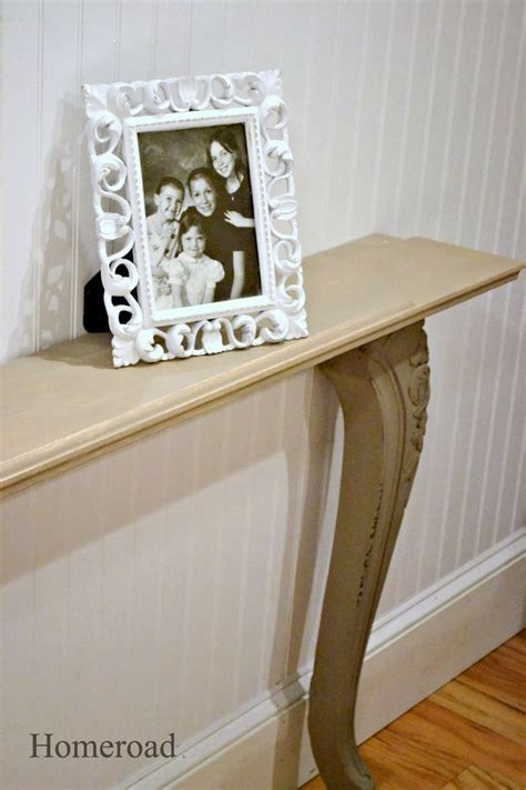 Narrow Sofa Table Diy by Diy Narrow Wall Or Sofa Table