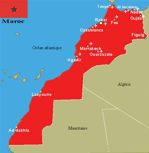 Carte Du Maroc Avec Les Principales Villes by Carte Maroc Aeroport