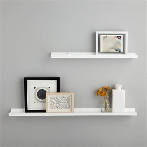 Buy White Shelves by White Ledge Wall Shelves The Container Store