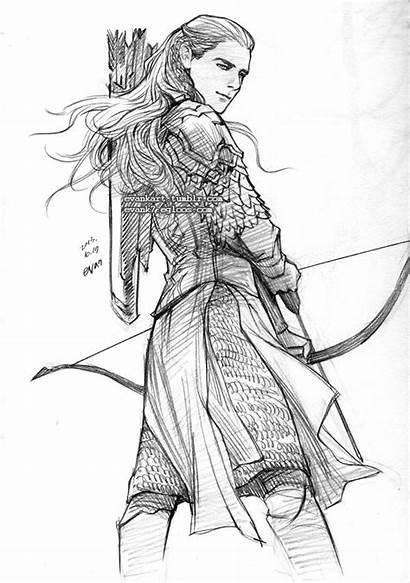 Legolas Costume Coloring Deviantart Tauriel Evankart Sketch