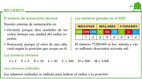nmeros y sistemas de numeracin 1 sistema de numeraci 243 n decimal matematicas 6 186 anaya on