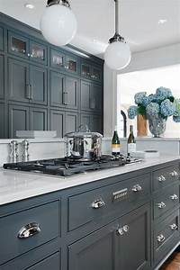 66 gray kitchen design ideas gray cabinets kitchens and With best brand of paint for kitchen cabinets with wall art for gray walls