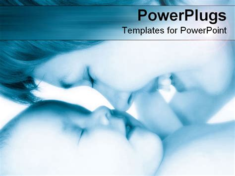 powerpoint template happy mother smiles   kisses