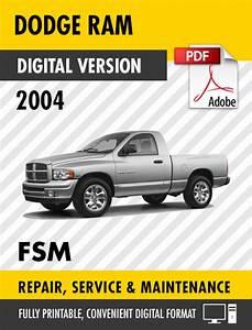 2004 Dodge Ram Truck 1500 2500 3500 4000 Dx Factory Repair
