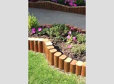 Check out the creative use of landscape timbers as borders